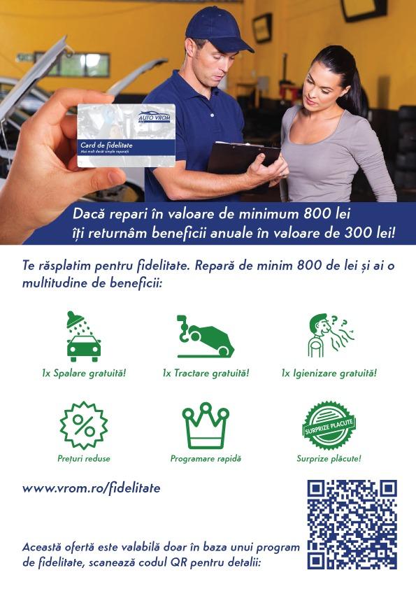 Card de fidelitate Auto Vrom - reduceri si promotii pentru reparatia masinii tale